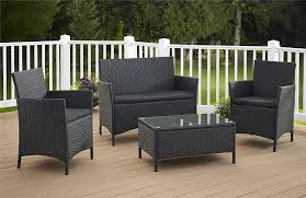 Plastic Patio Furniture Sets - amazon com cosco products 4 piece jamaica resin wicker