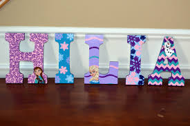 Kids Room Letters by Custom Hand Painted Frozen Themed Wood Wall Letters Girls Room