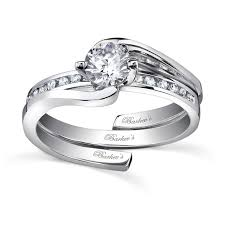 interlocking engagement ring wedding band barkev s white gold diamond engagement ring set 7493s
