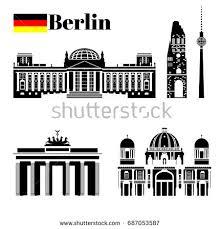 Massachusetts travel icons images Black white building berlin travel icon stock vector 687053587 jpg