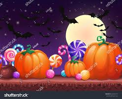 kids halloween candy background halloween cartoon background fantasy seamless landscape stock