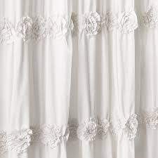 Lush Shower Curtains Lush Decor Darla Shower Curtain 72 By 72 Inch White