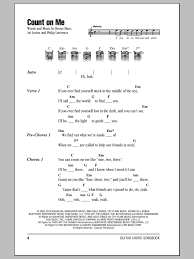Bruno Mars Count On Me With Lyrics Count On Me Sheet By Bruno Mars Lyrics Chords 153318