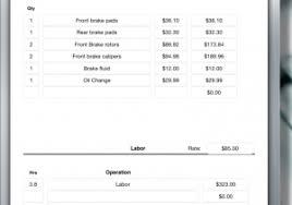 auto body invoice auto repair invoice free and printable excel