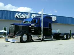 beauitiful customized big rigs chopped the top 4 inches custom