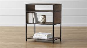 Bookshelf End Table Knox Low Open Bookcase Crate And Barrel