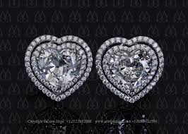 heart shaped diamond earrings e778 megé saturn heart shaped diamond earrings