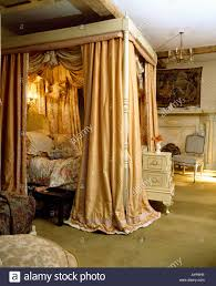 Four Post Bed by Four Poster Bed Silk Curtains Stock Photos U0026 Four Poster Bed Silk