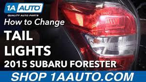 subaru forester tail light bulb how to install replace tail light 2014 16 subaru forester youtube