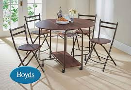 folding dining table and chairs stowaway dining set with butterfly