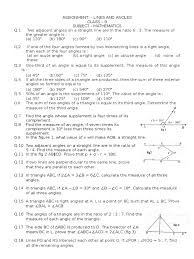 lines and angles maths assignment class 9 cbse triangle angle