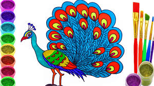 peacock coloring pages peacock coloring book learn colors