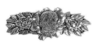 hair clip barrette hair accessory sugar skull oberon design