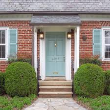 Front Door Colors For Gray House Front Door Colors Red Brick Home Front Entry Before U0026 After