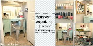 bathroom organizer ideas master bathroom organizing ideas liz