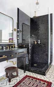 astonishing black bathroom ideas sink faucet sconce glass shower