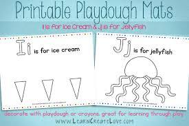 printable alphabet mat printable playdough mats i j