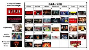 download our 31 day horror movie challenge for october