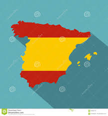 Map Of Spain by Map Of Spain Template Vector Illustration Stock Vector Image