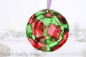 stained glass plastic lid ornaments i heart crafty things
