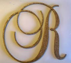 Decorative Wall Letters Nursery 24 Large Gold Glitter Wooden Wall Letters Monogram