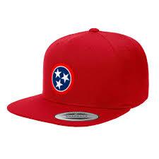 Tennesse Flag Nashville Tennessee State Flag Premium Classic Snapback Hat 6089m