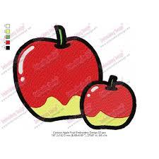 cartoon apple fruit embroidery design 02