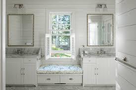 Bathroom Bench Seat Storage Storage Benches In 20 Beautiful Bathrooms Home Design Lover