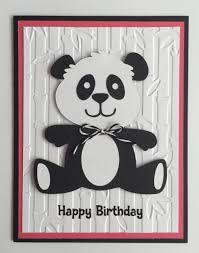 handmade happy birthday panda card a2 birthday cute panda by