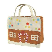 gingerbread tote gift bag ecopartytime