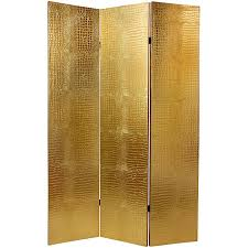 Stick Screen Room Divider - faux leather 6 foot gold crocodile room divider china free