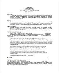 Administrative Assistant Resume Objectives 18 Sample Resume Objectives Free Sample Example Format Free