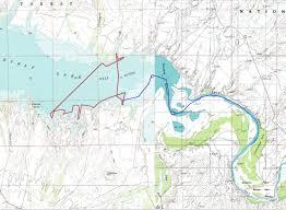 Grapevine Map Roosevelt Lake Kayaking Camping On U0027the Beckoning U0027
