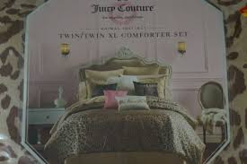 juicy couture bedroom set juicy couture animal instinct twin twin xl 2 pc comforter set with