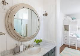 Nautical Vanity Light Kids Cottage Bathroom With Shiplap Walls Cottage Bathroom