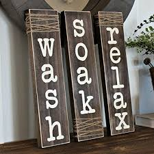 Rustic Bathroom Signs - amazon com relax wash soak rustic bathroom sign with wrapped