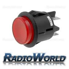 12 volt push button light switch 12v illuminated push button switch latching on off amazon co uk