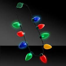 unisex rock led light up jewelry bulb necklace