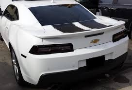 white camaro 2014 2014 2015 chevy camaro rs taillight with white cutout pre cut tint
