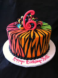 multi colored zebra print cake cakes cakes u0026 more cakes