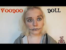 voodoo doll halloween makeup tutorial hey sas youtube
