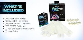 what s included gel glove set complete professional led glove set by glofx