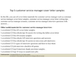 Sample Cover Letter For Customer Service Resume by Top5customerservicemanagercoverlettersamples 150618080943 Lva1 App6892 Thumbnail 4 Jpg Cb U003d1434615039