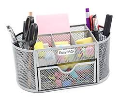 Silver Desk Accessories Easypag Mesh Office Desk Accessories Organizer 9