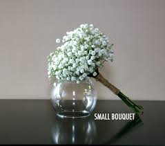 baby s breath bouquet delicate baby s breath small bouquet bridal flowers to go