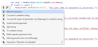 localize net applications features resharper