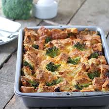 sausage strata with broccoli for holiday brunch food fanatic