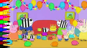 Peppa Pig 2017 Book Peppa Pig Happy Birthday George Best Learning Coloring Book Pages