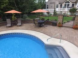 Pool Patio Pictures by See This Amazing Hardscape Poolside Patio With Landscaping