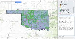 Map Oklahoma Ok Broadband Map